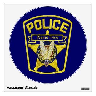 Police Officer Wall Sticker