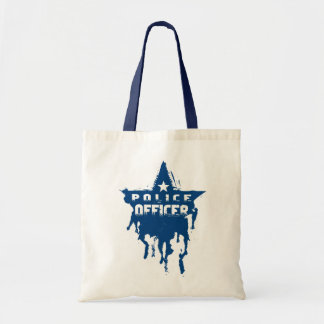 Police Officer Wet Stencil Tote Bag