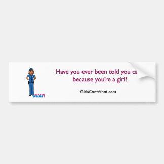 Police Officer Woman Bumper Sticker