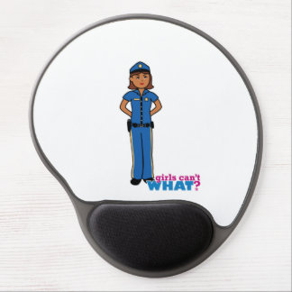 Police Officer Woman Gel Mouse Pad
