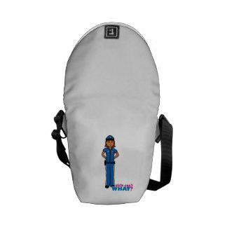 Police Officer Woman Messenger Bag