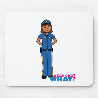 Police Officer Woman Mouse Pad