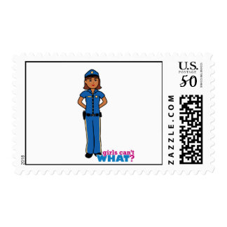 Police Officer Woman Postage