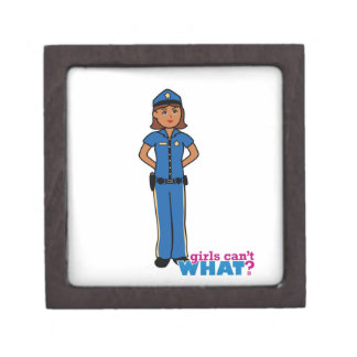 Police Officer Woman Premium Jewelry Boxes