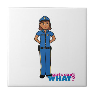 Police Officer Woman Small Square Tile