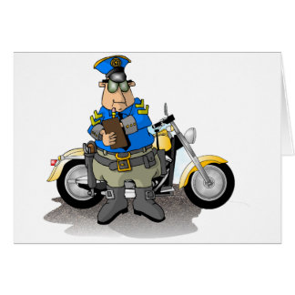 Police Officer Writing A Ticket Note Cards