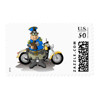 Police Officer Writing A Ticket Postage