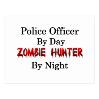 Police Officer/Zombie Hunter Post Card