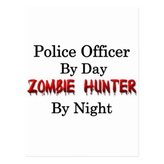 Police Officer/Zombie Hunter Postcard
