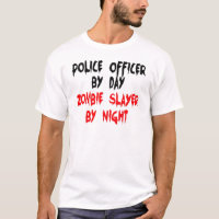 Police Officer Zombie Slayer T-Shirt