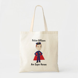 Police Officers Are Super Heroes Budget Tote Bag