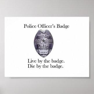 Police Officer's Badge Poster
