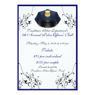 Police Officers' Ball Custom Front/Back RSVP Cards