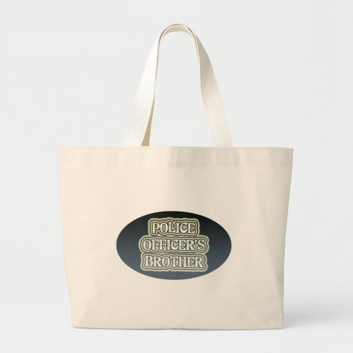 Police Officer's Brother Jumbo Tote Bag