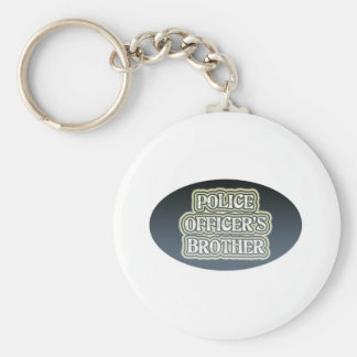 Police Officer's Brother Keychain