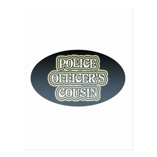 Police Officer's Cousin Postcard