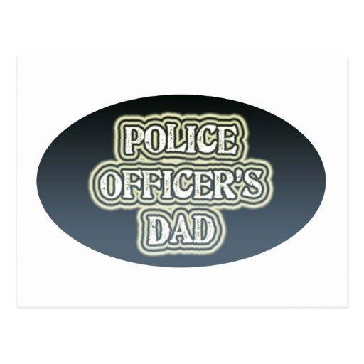 Police Officer's Dad Postcard
