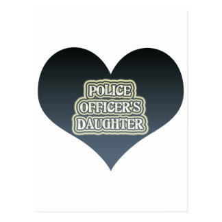 Police Officer's Daughter Postcard
