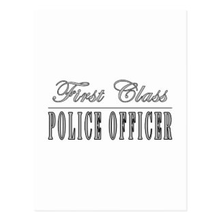 Police Officers : First Class Police Officer Postcard