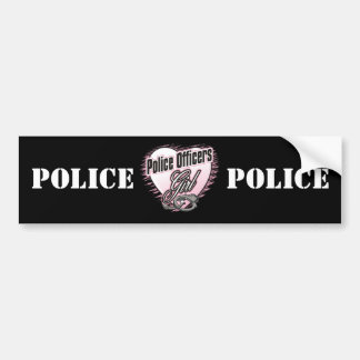 Police Officers Girl Car Bumper Sticker