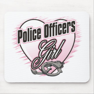 Police Officers Girl Mouse Pad