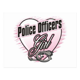 Police Officers Girl Postcard