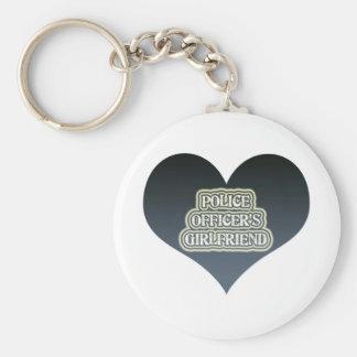 Police Officer's Girlfriend Basic Round Button Keychain