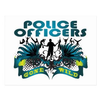Police Officers Gone Wild Postcard