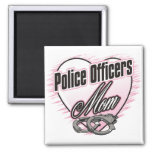 Police Officers Mom 2 Inch Square Magnet