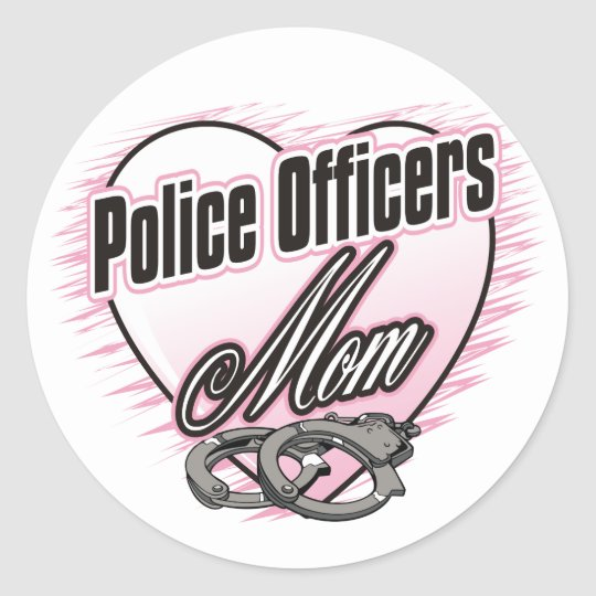 Police Officers Mom Classic Round Sticker