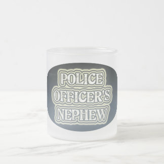 Police Officer's Nephew Frosted Glass Coffee Mug