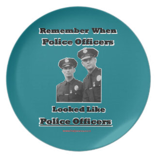 Police Officers Plate