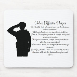 Police Officers Prayer Mouse Pad