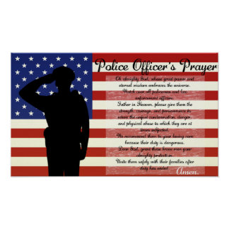 Police Officer's Prayer Poster
