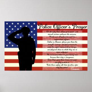 Police Officer's Prayer Poster