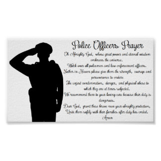 Police Officers Prayer Posters