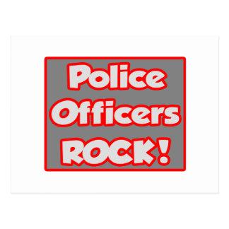 Police Officers Rock! Postcard