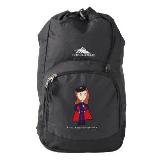 Police Officers Super Heroes (Female) Backpack