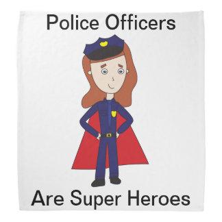 Police Officers Super Heroes (Female) Bandana