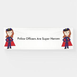 Police Officers Super Heroes (Female) Banner