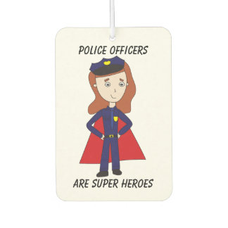 Police Officers Super Heroes (Female) Car Air Freshener