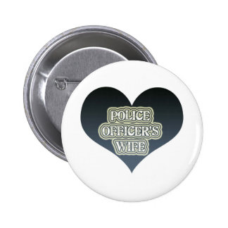 Police Officer's Wife Pinback Buttons