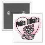 Police Officers Wife Button