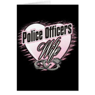 Police Officers Wife Card