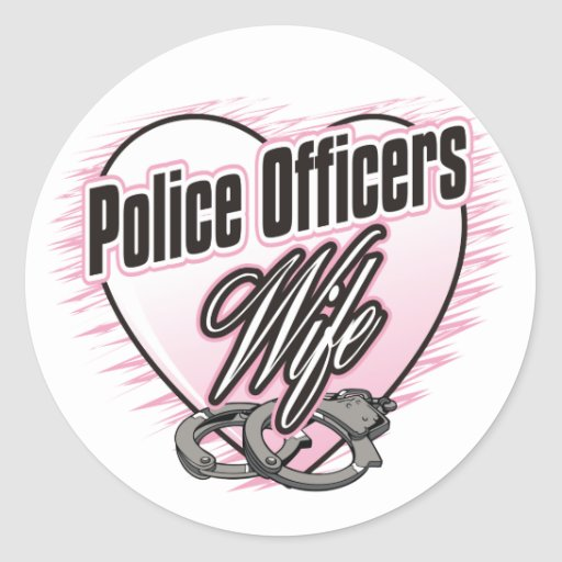 Police Officers Wife Classic Round Sticker