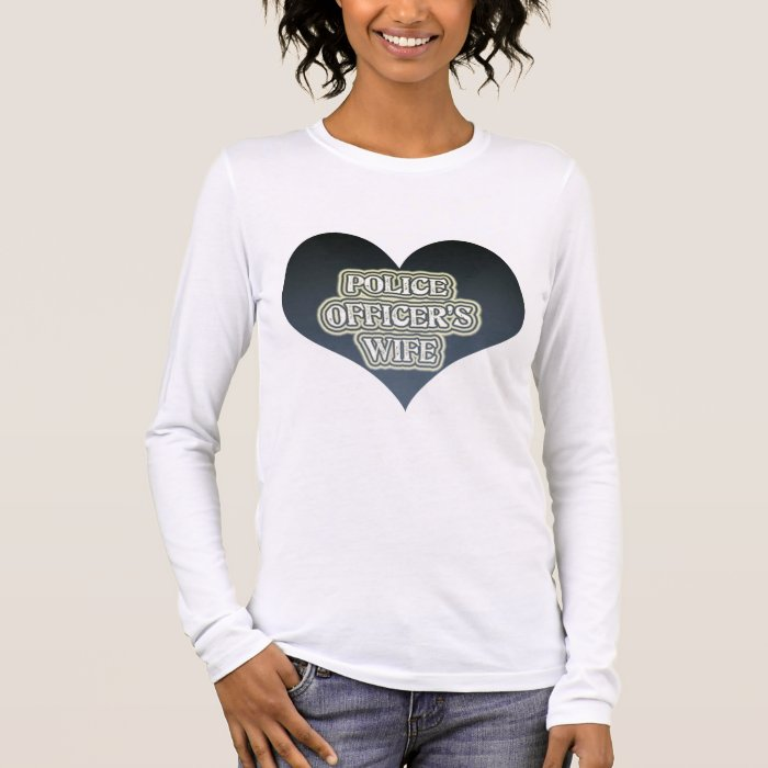 Police Officer's Wife Long Sleeve T-Shirt