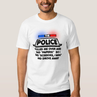 Police Papers Scissors Funny Shirt