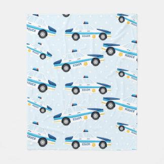 Police pattern fleece blanket