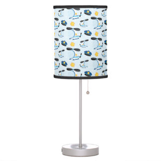 Police pattern table lamp