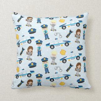 Police Pattern Throw Pillow